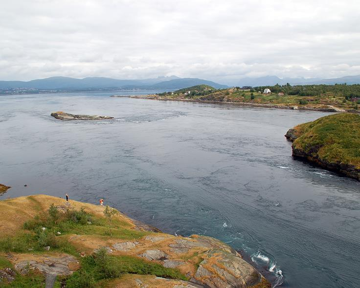 The maelstrom Saltstraumen in Bodø, Norway. Photo.